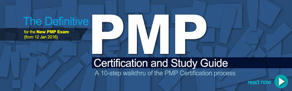 Title graphics for the article: The Definitive PMP Certification and Study Guide, click to read it