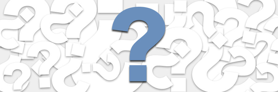 a picture showing a large question mark is used to symbolize the pmp certification questions and tips